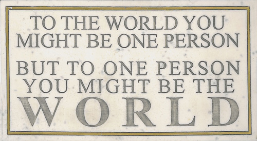 MARBLE PLAQUE-ONE PERSON THE WORLD HP2418