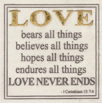 MARBLE PLAQUE-LOVE BEARS ALL HP2339