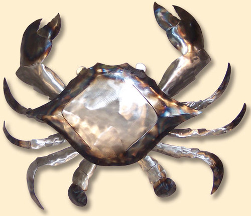 INCREDIBLE METAL WALL ART-CRAB AD-CP1