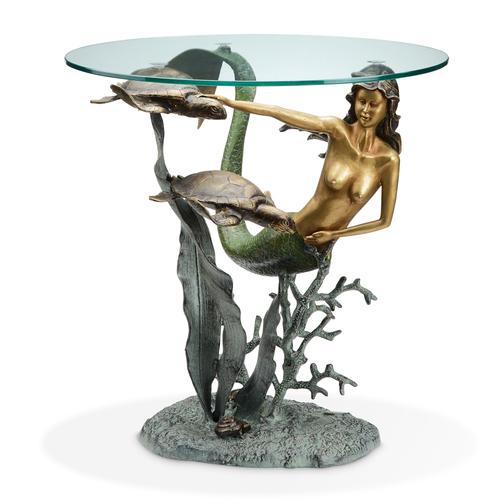 DESIGNER TABLE-MERMAID AND SEA TURTLES SP33708