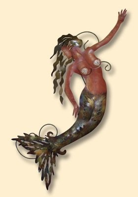 INCREDIBLE METAL WALL ART-MERMAID WAVE