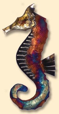 COPPER DRIP WALL ART-SEAHORSE-CURLED TAIL