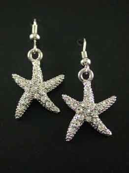 FASHION JEWELRY-STARFISH EARRINGS