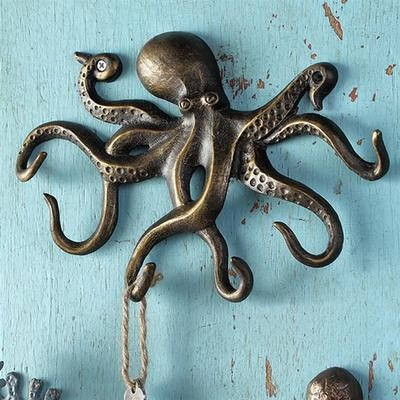 WALL HOOK-SWIMMING OCTOPUS