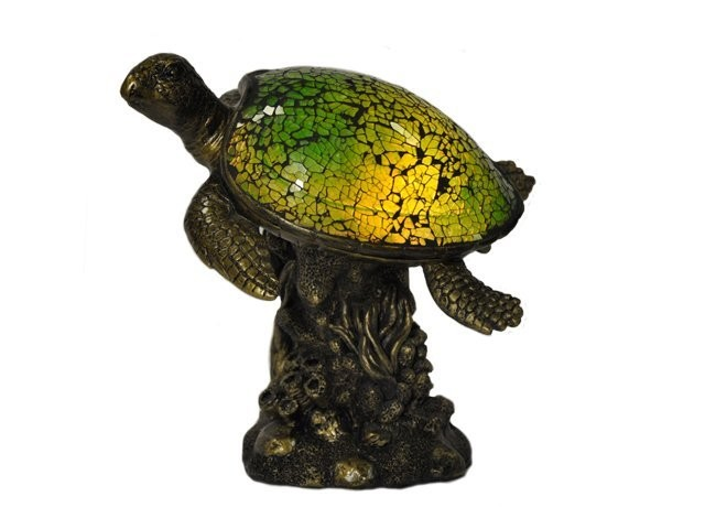 ACCENT LAMP-CORAL REEF SEA TURTLE
