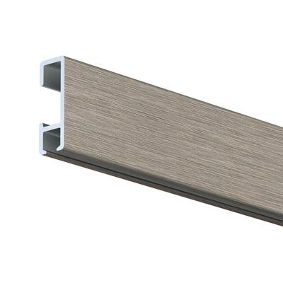 3m Click Rail Brushed Aluminium including standard fixings