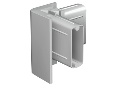 Corner Connector Grey for Click Rail