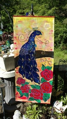 Peacock & Roses Banner