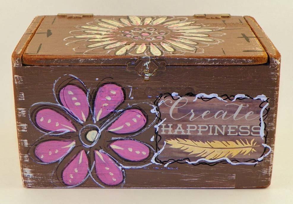 Hand Painted Cigar Box