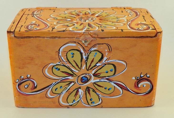 Hand Painted Cigar Box