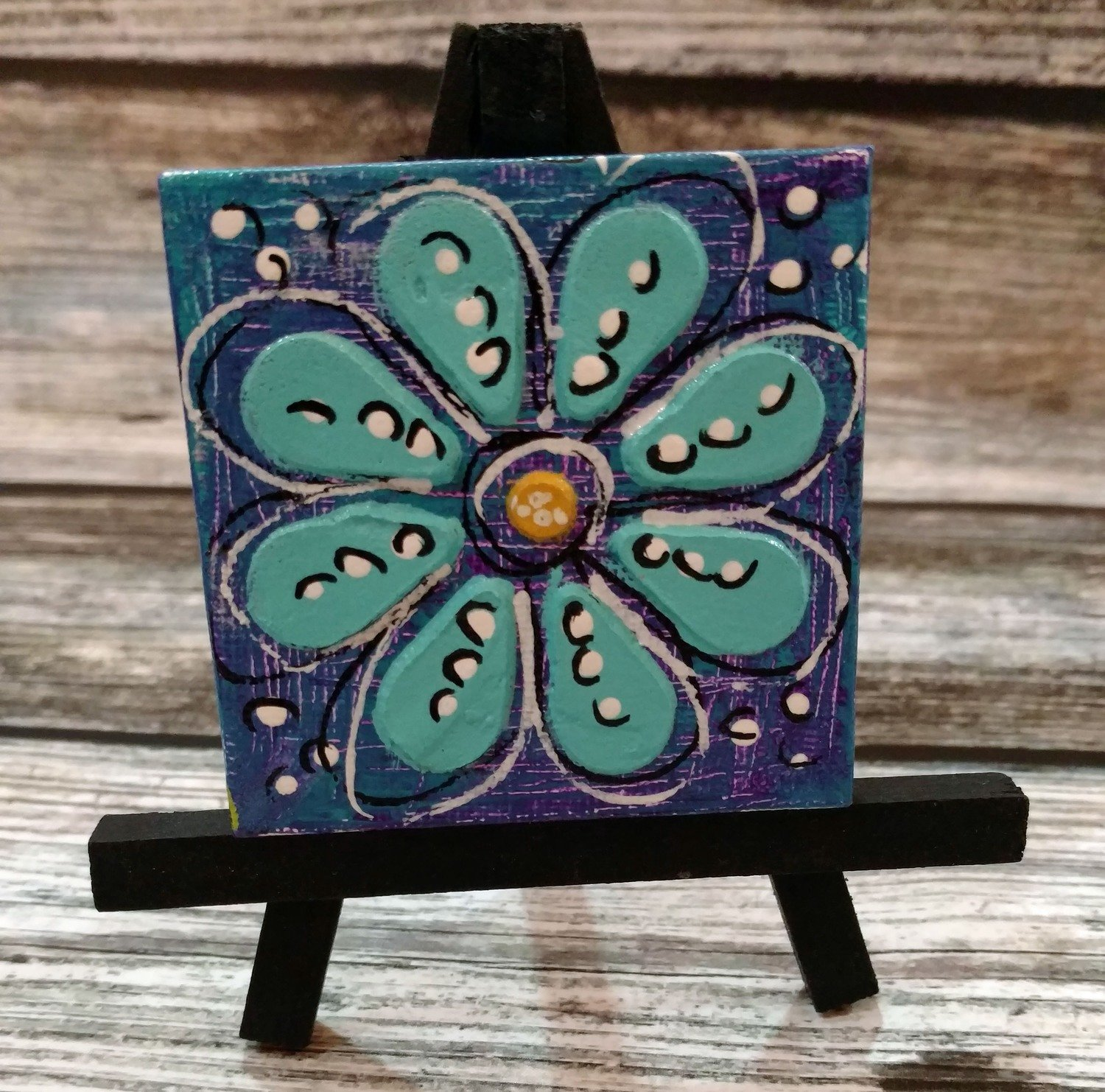 Mini Canvas w/easel