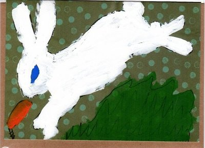 Bunny Blank Note Card