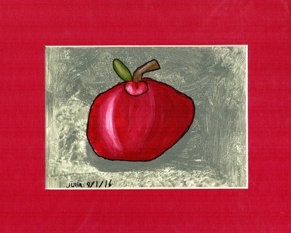 Apple Print~Matted