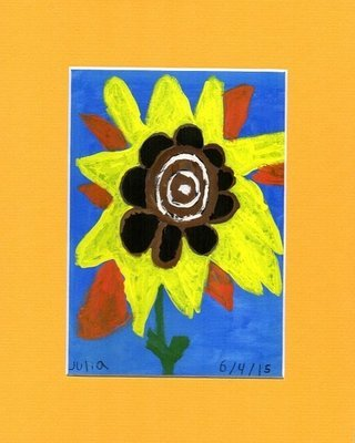 Sunflower Print~Matted