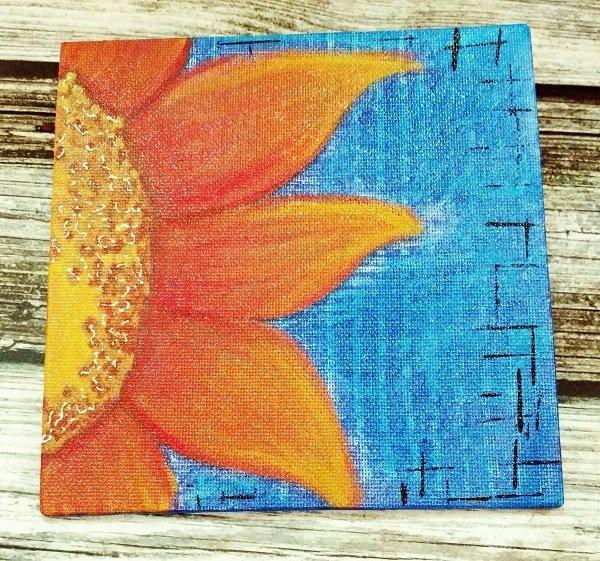 Sunflower on Canvas Panel (6x6)