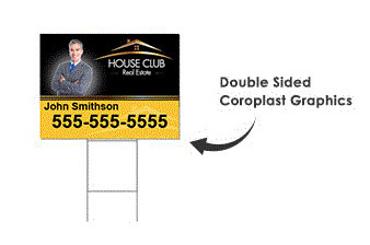 Yard Sign and H-Stake - $15.59 for 10 or more