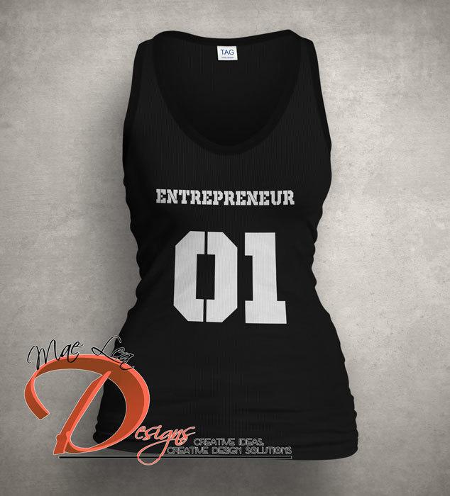 Entrepreneur Jersey Tank - Black