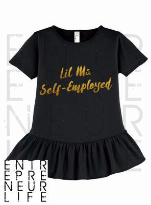 Lil Ms. Self-Employed Ruffle Tee