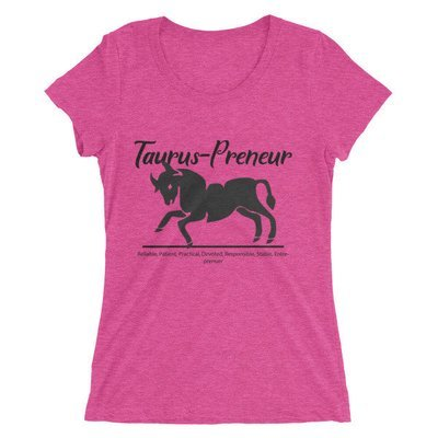 Taurus-Preneur Ladies' short sleeve t-shirt