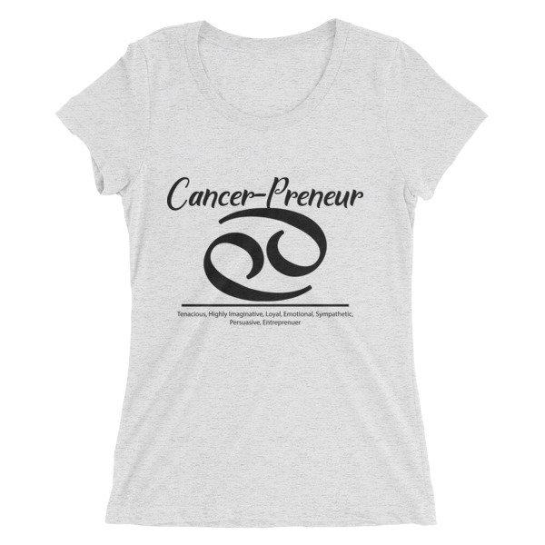 Cancer-Preneur Ladies' short sleeve t-shirt