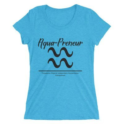 Aqua-Preneur Ladies' short sleeve t-shirt