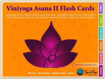 Viniyoga Asana II Yoga Flash Cards Interactive eBook