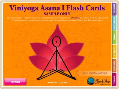 Viniyoga Asana I Flash Cards FREE 5 PAGE SAMPLE FOR APPLE IBOOKS