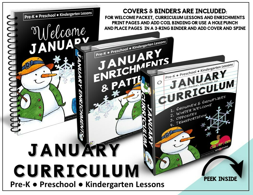 JANUARY PREK-KINDERGARTEN CURRICULUM