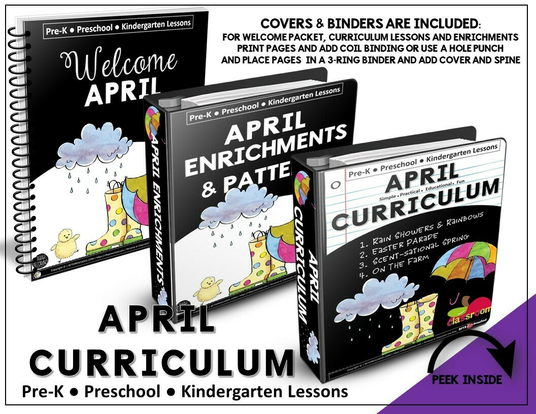 APRIL CURRICULUM PREK KINDERGARTEN