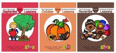 FALL 12 LESSON PLANS Bundle [SEPTEMBER - OCTOBER - NOVEMBER] Series 2