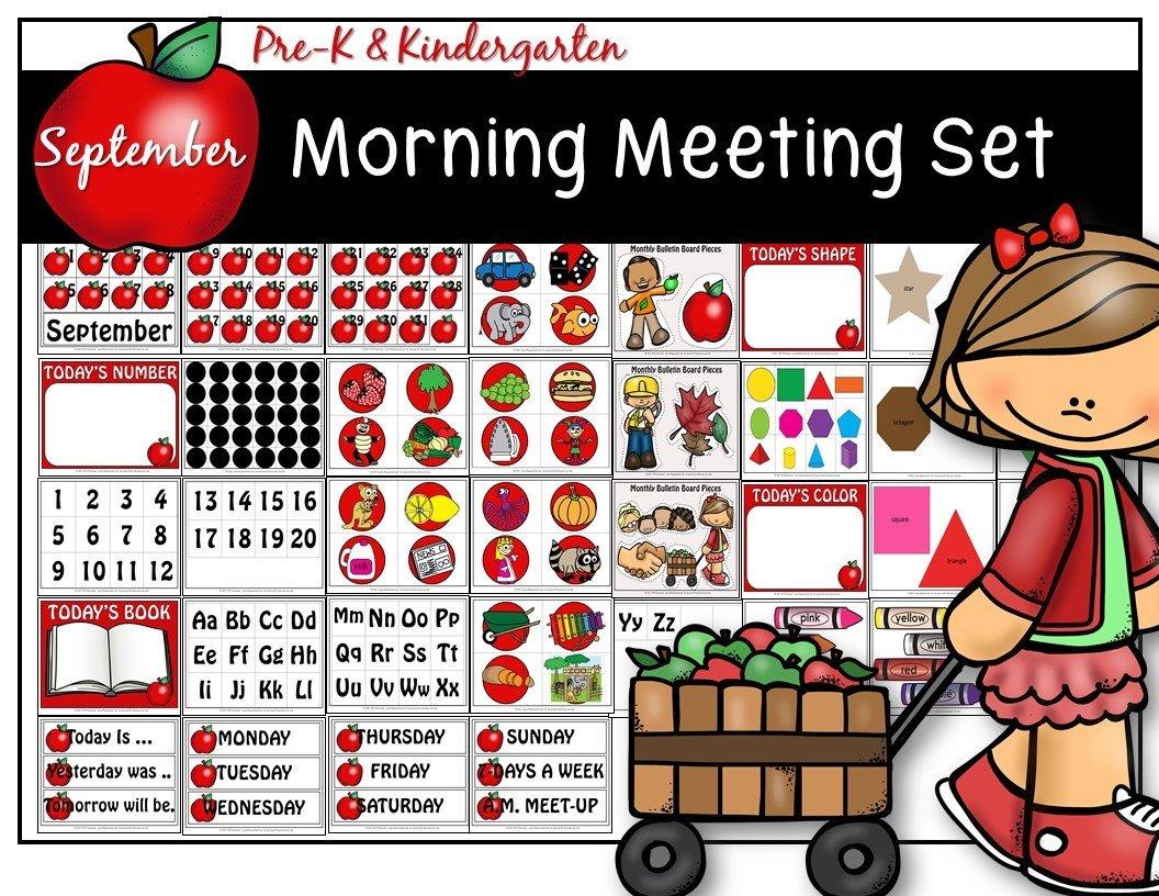 SEPTEMBER MORNING MEETING CENTER + Editable Teacher Forms