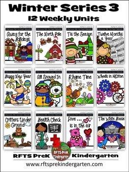 WINTER 12 LESSON PLANS Bundle [DECEMBER ~ JANUARY ~ FEBRUARY] Series 3