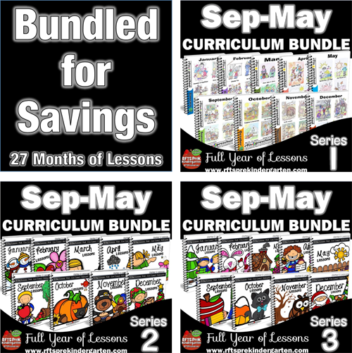 PreK Curriculum Bundle -108  [5-day Lessons] (Series 1, 2, 3)