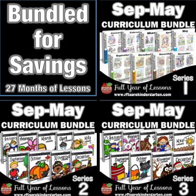 PreK Curriculum Bundle -108  [5-day Lessons] (Series 1, 2, 3)
