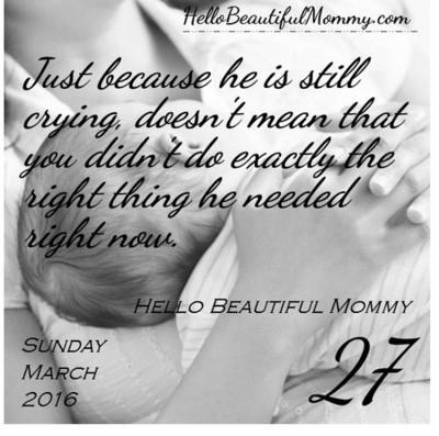 Hello Beautiful Mommy Calendar 2016