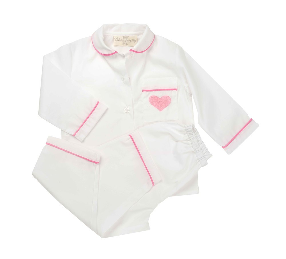 """Childrens' Pyjamas """"The Heart"""" in Pink, Blue or Red"""