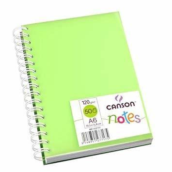 Canson Notes Блокнот на спирали, пластиковая обложка, 120гр/м, 10,5х14,8см, 50л