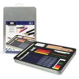 Набор цветной пастели и карандашей