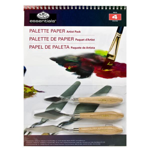 Набор 3 мастихина + 15л бумаги-палитры RD515