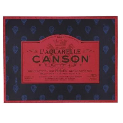 Блок для акварели Canson Heritage 300г/кв.м (хлопок) 31*41см 20л склейка по 4 сторонам