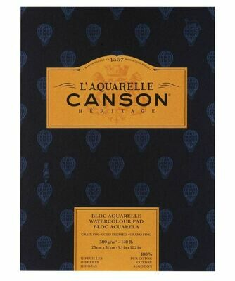 Блок для акварели Canson Heritage 300г/м2 23*31см 12л