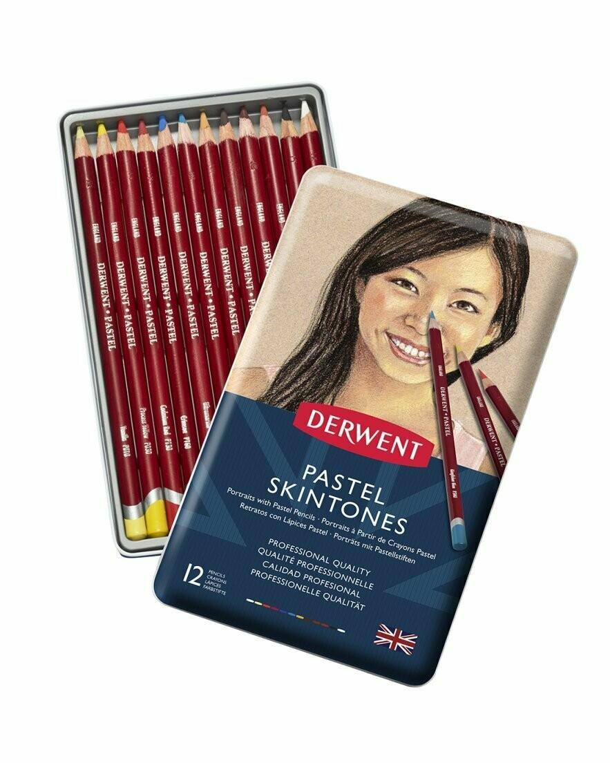 Набор пастельных карандашей Derwent 12 цв