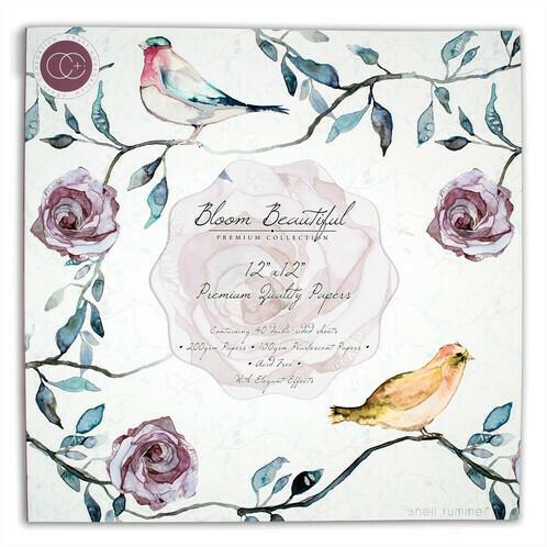 Набор бумаги Bloom Beautiful 30x30, 40 двусторонних листов