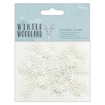 Конфети снежинки Papermania Winter Woodland 200 шт