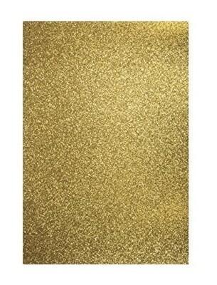 Бумага А4  золото с блестками 1шт 200г