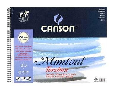 Альбом на спирали Montval 270гр/м, Снежное зерно, 32х41см