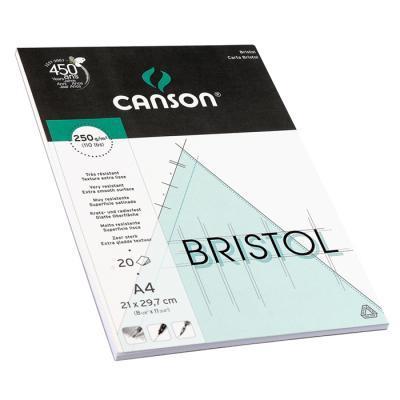 Склейка для графики Бристоль, 250гр/м, 21х29.7см, 20л