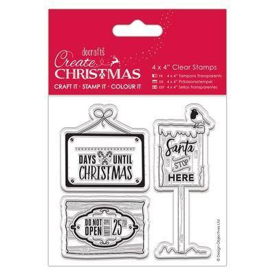 Набор штампов 10x10см - Christmas Signs