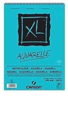 Альбом для акварели XL 300гр/м, Среднее зерно, А3, 30л, спираль по короткой стороне