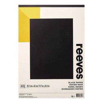 Альбом для рисования черные листы Reeves A4 20л